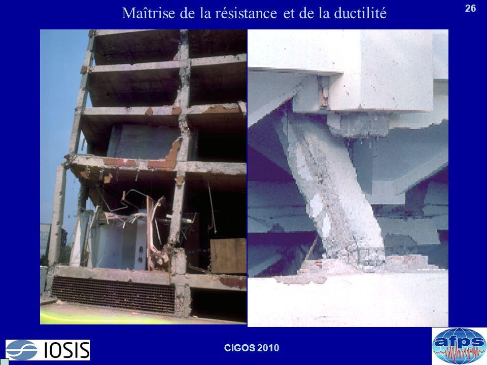 26 CIGOS 2010 Maîtrise de la résistance et de la ductilité