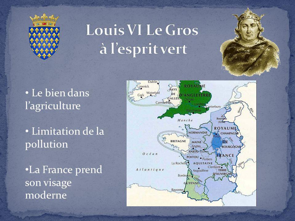 Le bien dans l'agriculture Limitation de la pollution La France prend son visage moderne