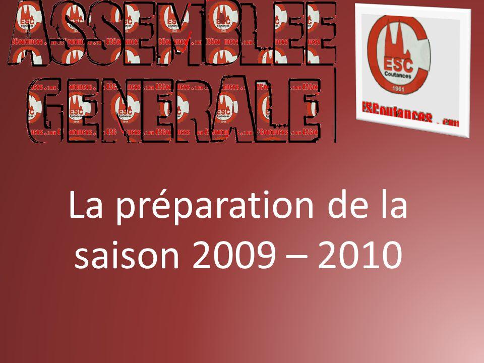 La préparation de la saison 2009 – 2010