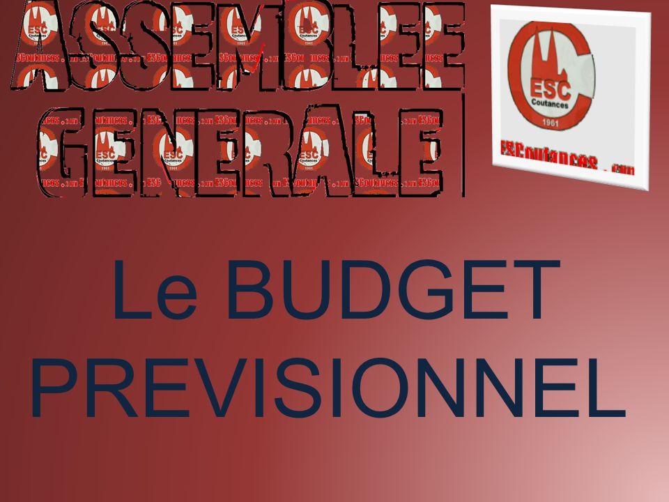 Le BUDGET PREVISIONNEL