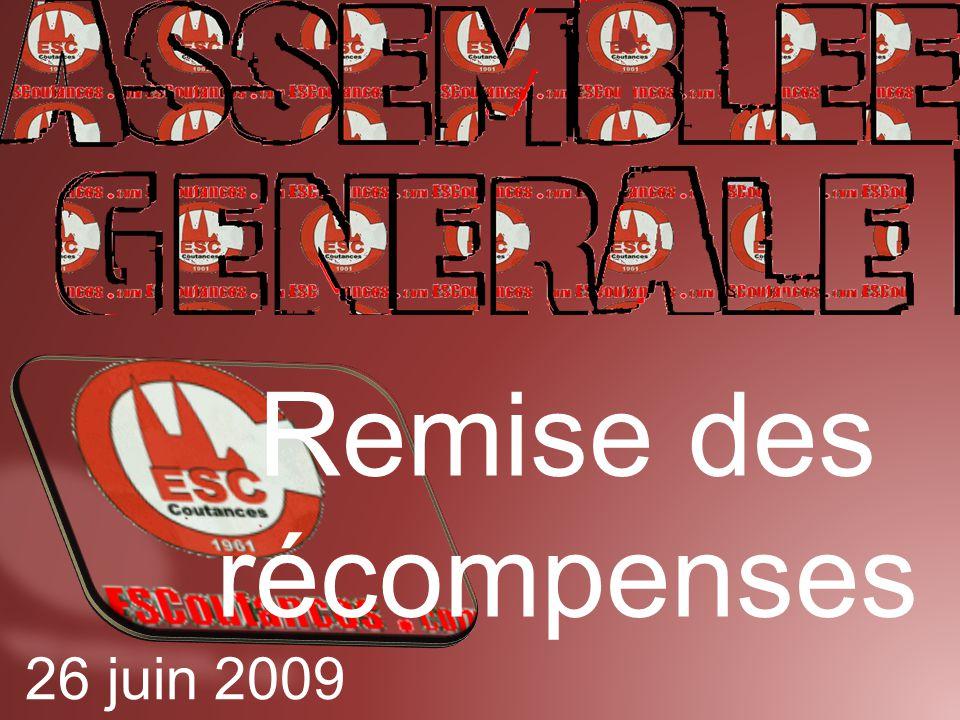Remise des récompenses 26 juin 2009