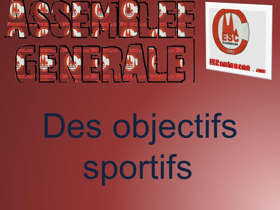 Des objectifs sportifs