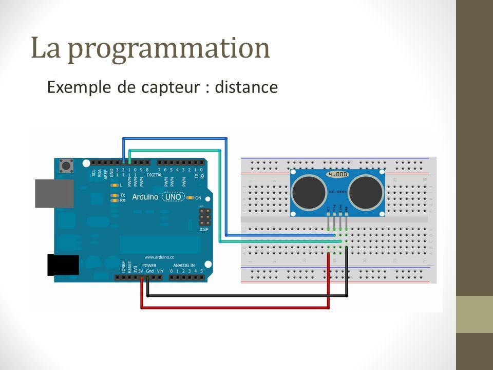La programmation Exemple de capteur : distance
