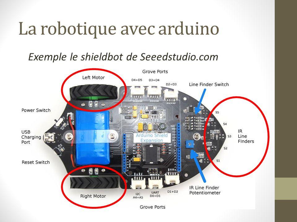 La robotique avec arduino Exemple le shieldbot de Seeedstudio.com