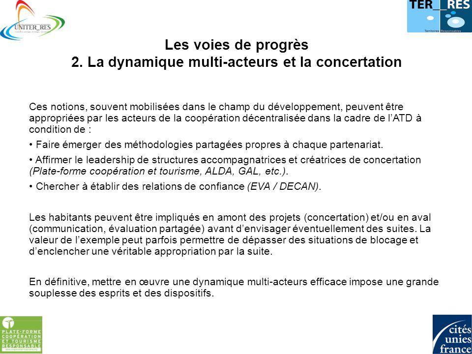 Les voies de progrès 3.