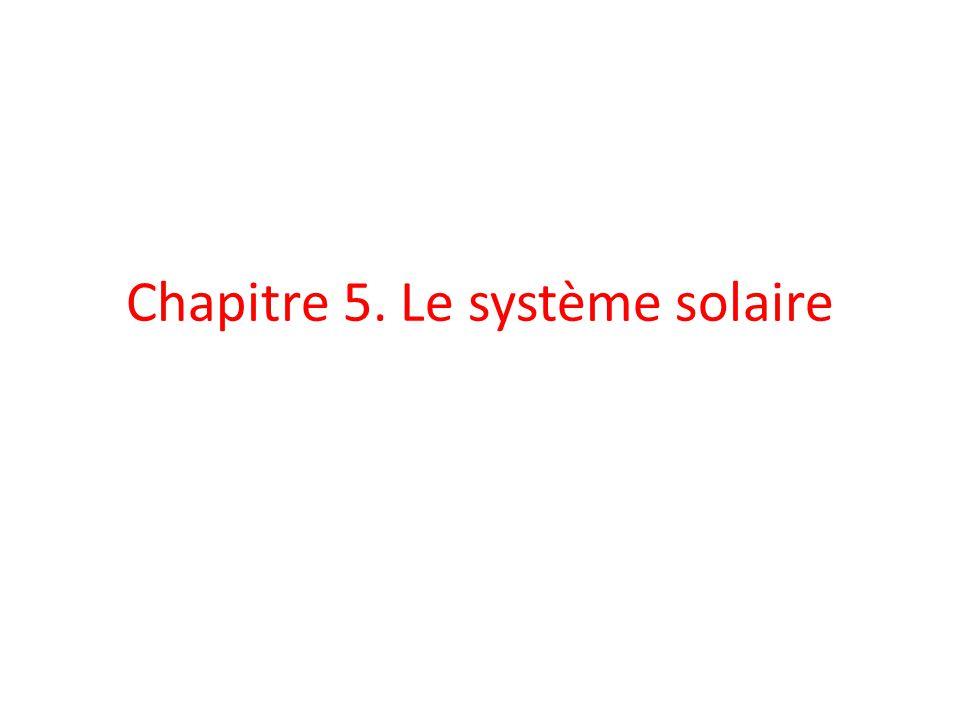 Chapitre 5. Le système solaire