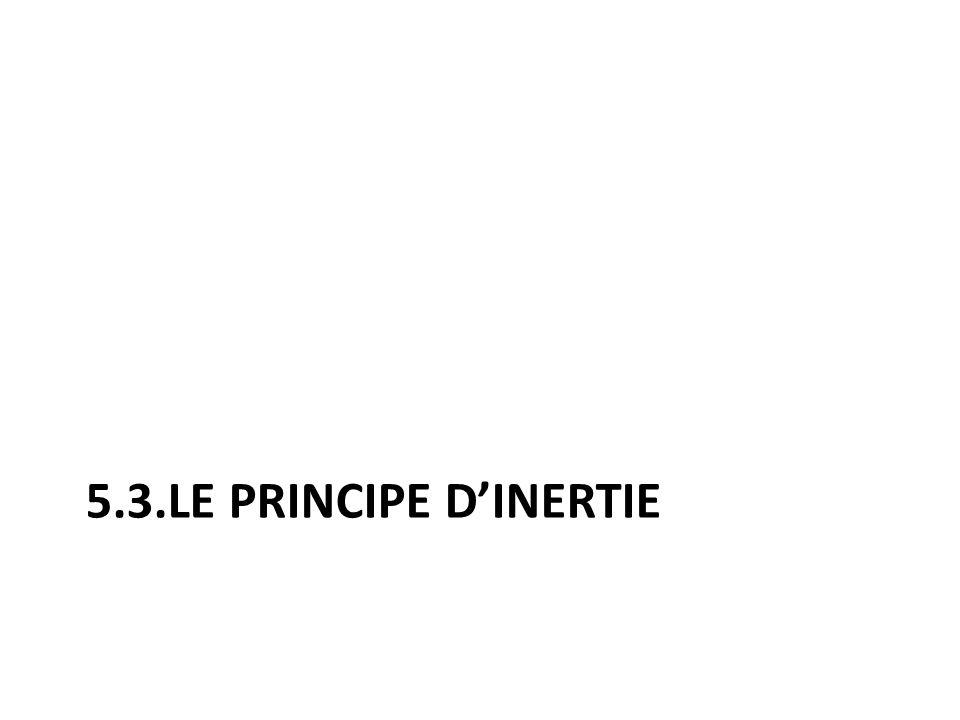 5.3.LE PRINCIPE D'INERTIE