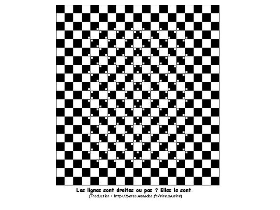 Illusion d'optique Ça bouge, ou pas, ça monte, ça descend, c'est là, c'est pas là.