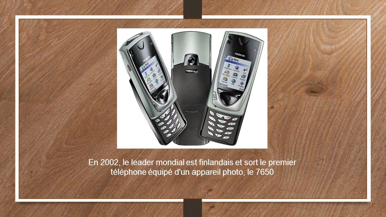 En 2002, le leader mondial est finlandais et sort le premier téléphone équipé d'un appareil photo, le 7650
