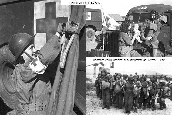 Une section d'ambulancières au débarquement de Provence (USNA)