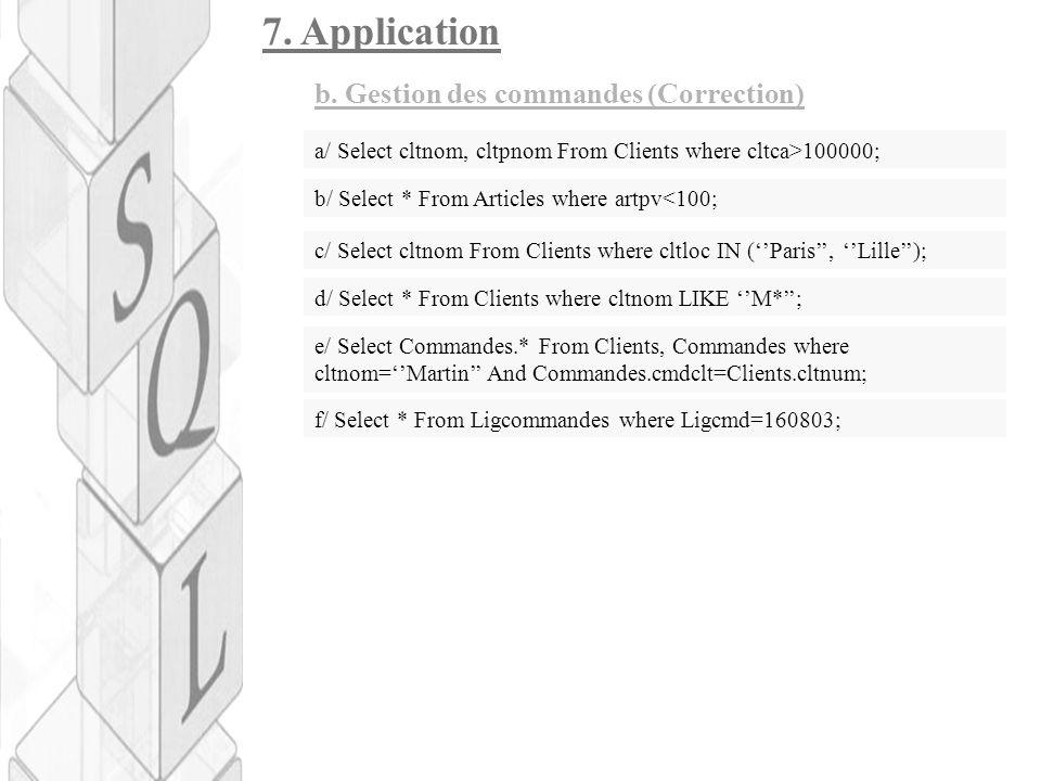 7.Application b.