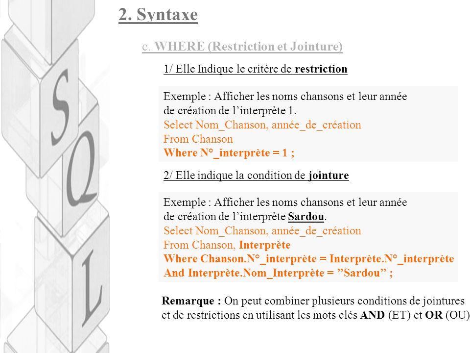2.Syntaxe c.