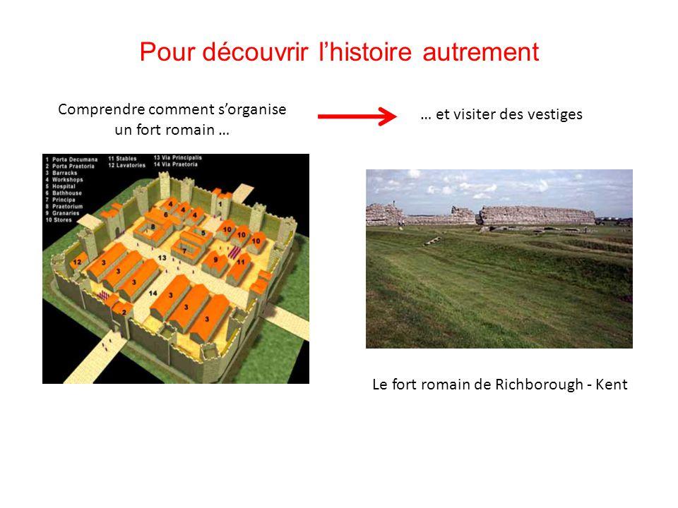 Pour découvrir l'histoire autrement Comprendre comment s'organise un fort romain … … et visiter des vestiges Le fort romain de Richborough - Kent