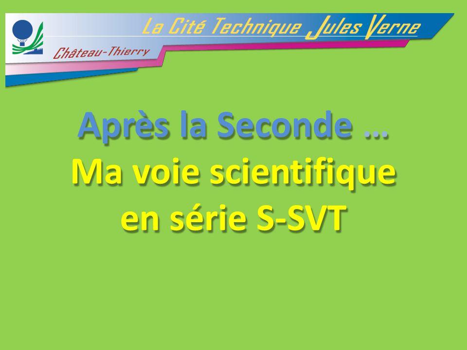 AprèslaSeconde… Ma voiescientifique ensérie S-SVT