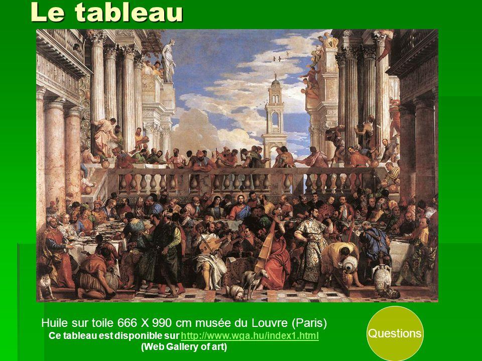 Le tableau Huile sur toile 666 X 990 cm musée du Louvre (Paris) Ce tableau est disponible sur http://www.wga.hu/index1.htmlhttp://www.wga.hu/index1.html (Web Gallery of art) Questions