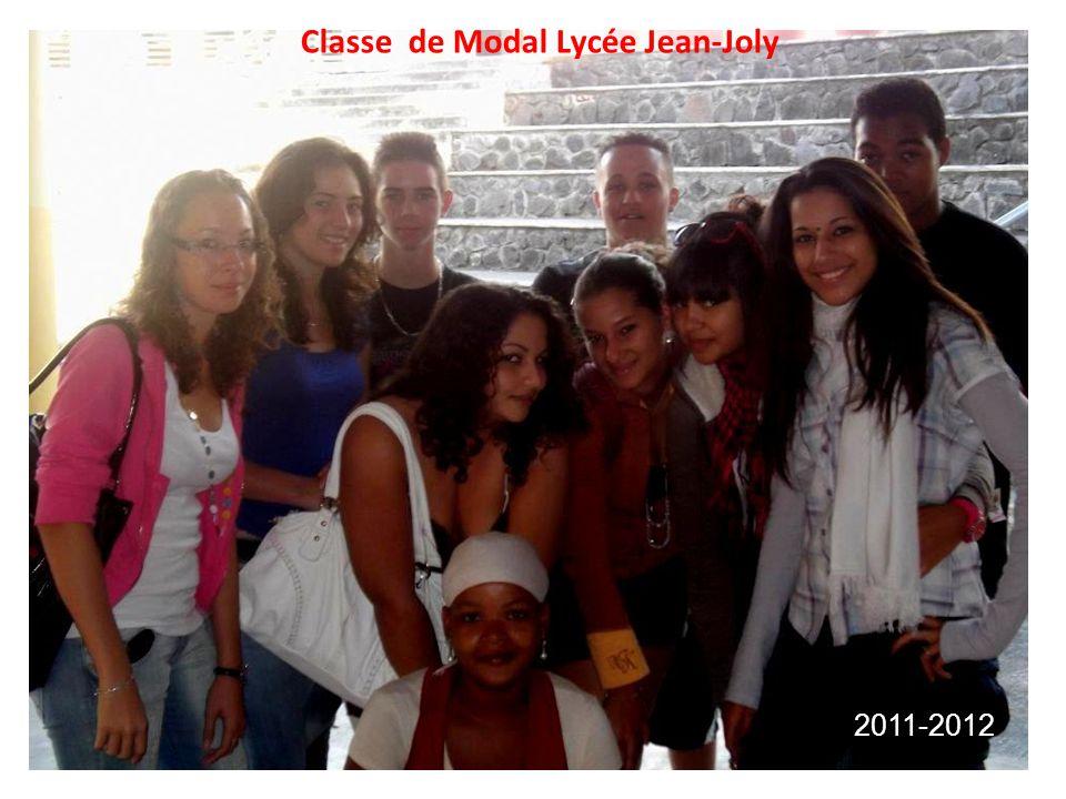 Classe de Modal Lycée Jean-Joly 2011-2012