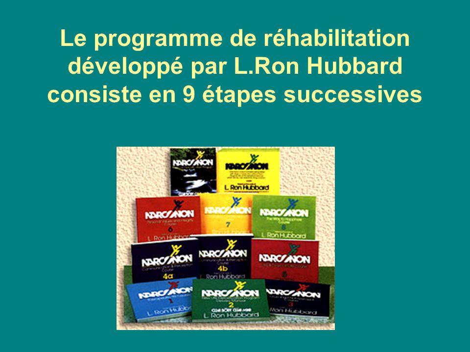 Le programme de réhabilitation développé par L.Ron Hubbard consiste en 9 étapes successives