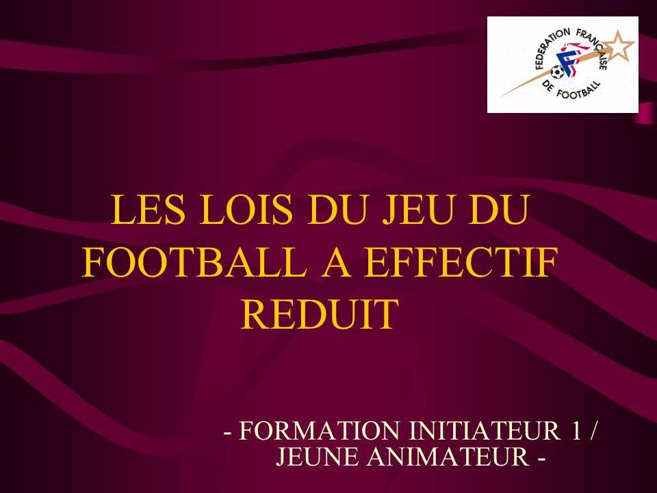 LES LOIS DU JEU DU FOOTBALL A EFFECTIF REDUIT - FORMATION INITIATEUR 1 / JEUNE ANIMATEUR -