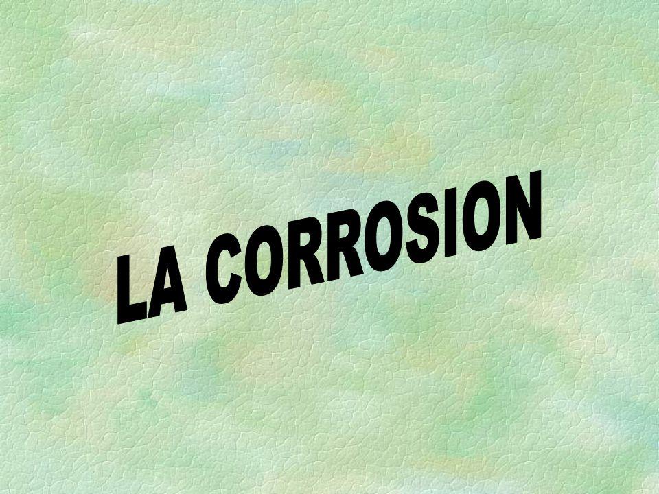 PLAN DE CONFERENCE I) DEFINITION II) CORROSION EN MILIEU AQUEUX III) DIFFERENTS TYPES DE CORROSION IV) LES FACTEURS DE CORROSION V) PROTECTION CONTRE LA CORROSION