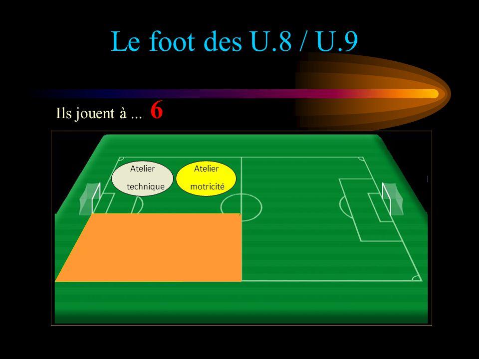 Le foot des U.6 / U.7 Les U.6 / U.7 jouent à... 4 Atelier Rencontre 20 à 25 m 16,5 m Atelier De motricité Atelier technique