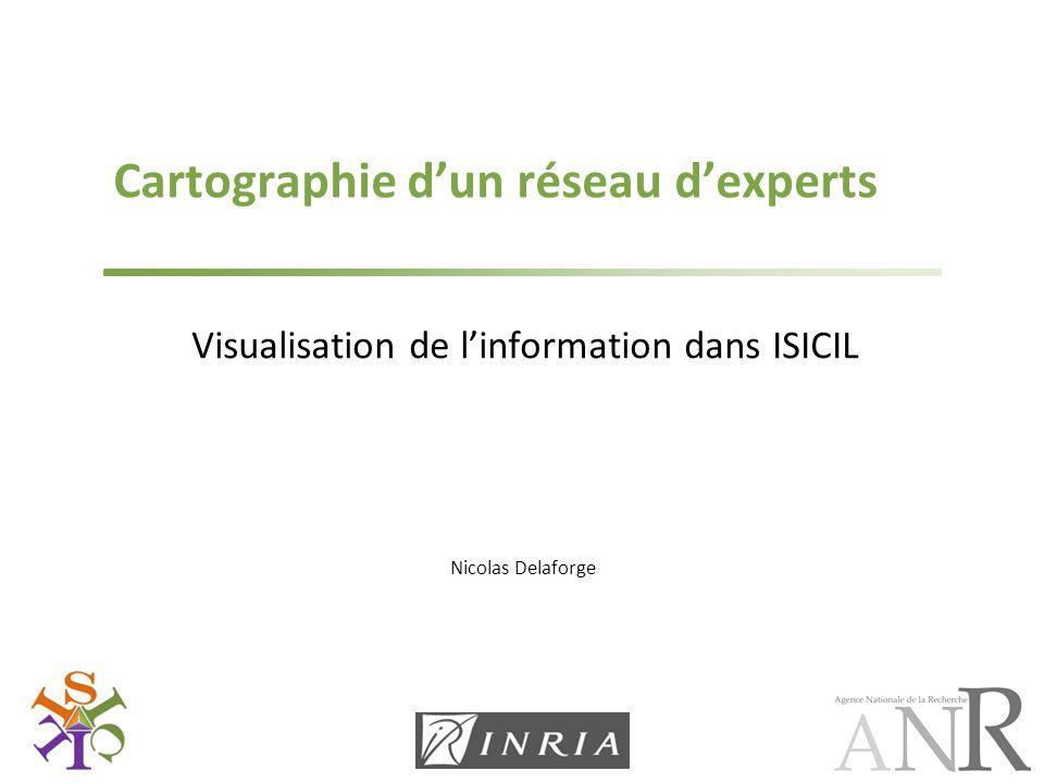 Nicolas Delaforge Cartographie d'un réseau d'experts Visualisation de l'information dans ISICIL