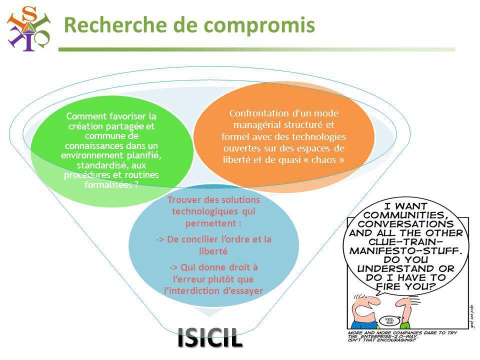 ISICIL Trouver des solutions technologiques qui permettent : -> De concilier l'ordre et la liberté -> Qui donne droit à l'erreur plutôt que l'interdic