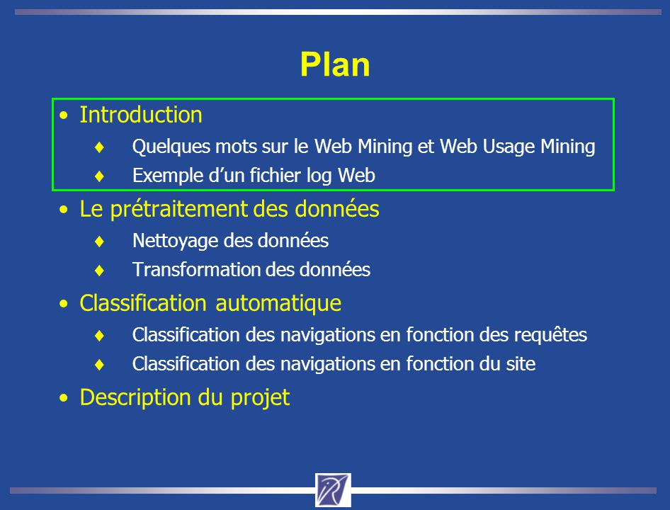 Classification des navigations sur les facteurs 1 et 2 1/7 5/7 4/7 2/7