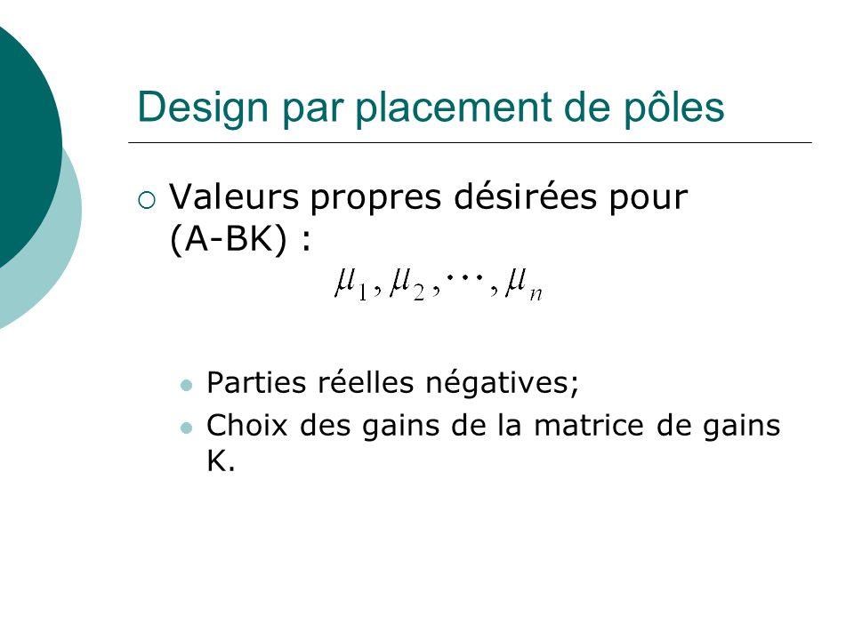 Observateur d'état complet (Erreur)  L'erreur est évaluée comme suit :  Si les paramètres de l'observateur sont identiques aux paramètres réels, cela simplifie l'équation.