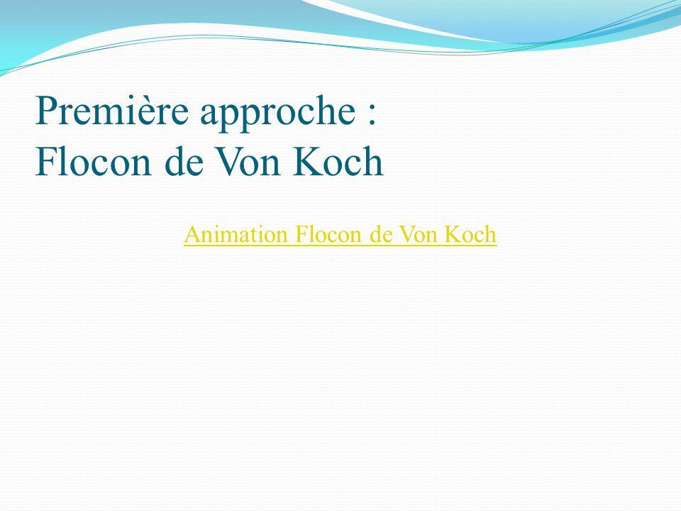 Première approche : Flocon de Von Koch Animation Flocon de Von Koch