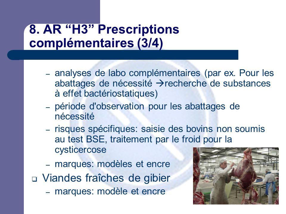 8. AR H3 Prescriptions complémentaires (3/4) – analyses de labo complémentaires (par ex.