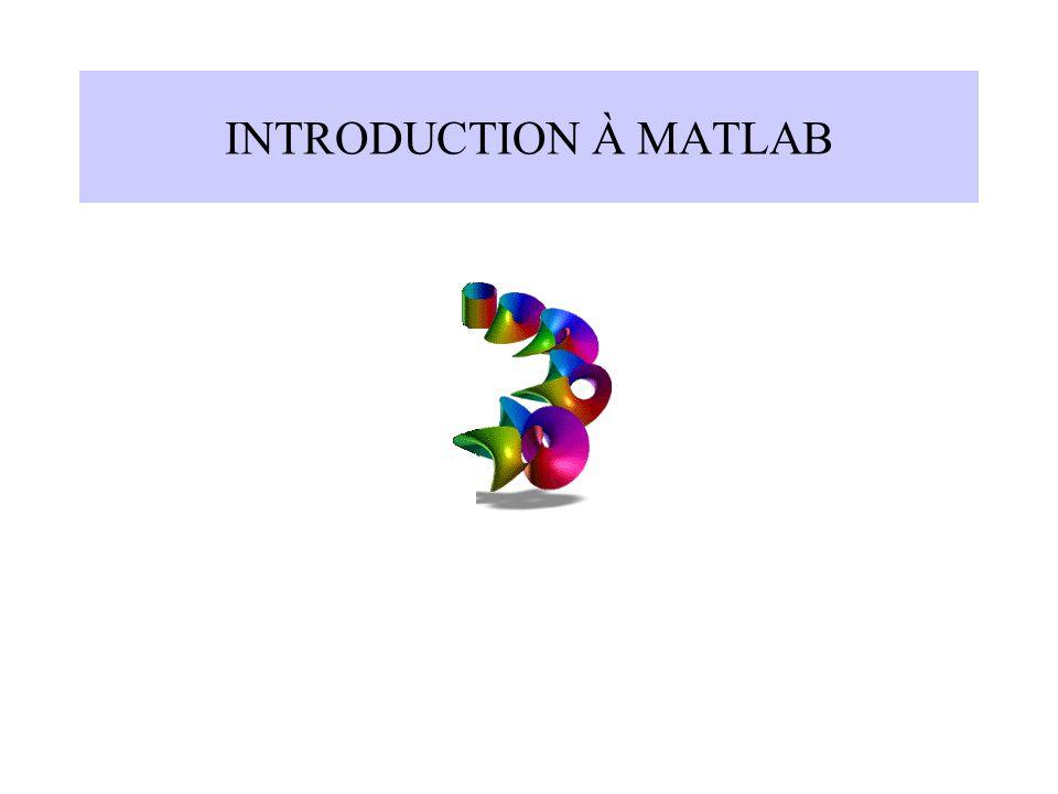 INTRODUCTION À MATLAB