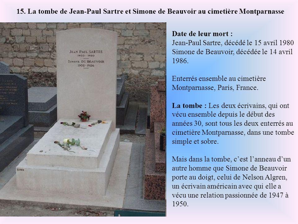 Date de sa mort : 9 octobre 1978. Enterré au cimetière d'Atuona sur l'île d'Hiva- Oa, aux Iles Marquises. La tombe : Jacques Brel a choisi d'être ente