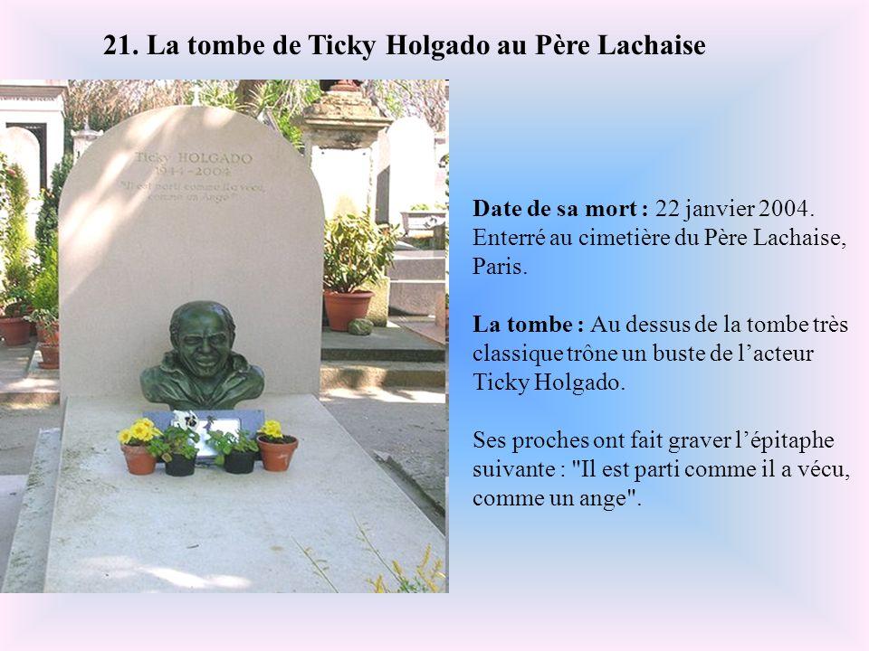 Date de sa mort : 2 mars 1991. Enterré au cimetière Montparnasse, Paris, France. La tombe : Depuis son décès, la tombe de Serge Gainsbourg ne cesse d'