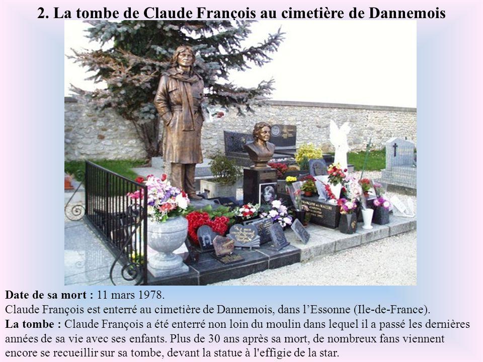 Date de sa mort : 3 mai 1987. Dalida est enterrée au cimetière Montmartre, à Paris. La tombe : La tombe de la célèbre chanteuse se situe sur le point