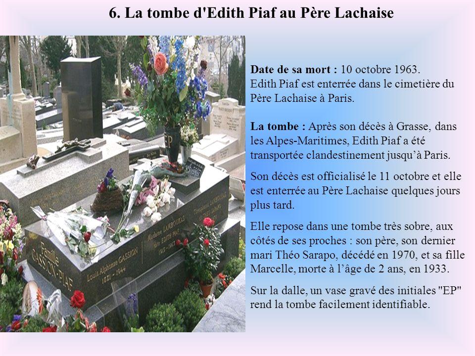 Date de sa mort : 26 février 1971. Fernandel est enterré au cimetière de Passy, à Paris, France. La tombe : C'est dans une tombe très sobre, et toujou