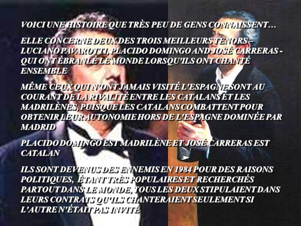 LA VÉRITABLE HISTOIRE DE DEUX TENORS LA VÉRITABLE HISTOIRE DE DEUX TENORS