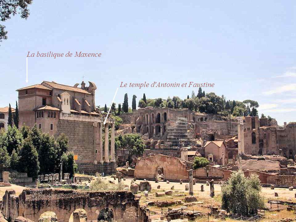 La Colonne de Phocas Le temple de Vesta Le temple de Saturne