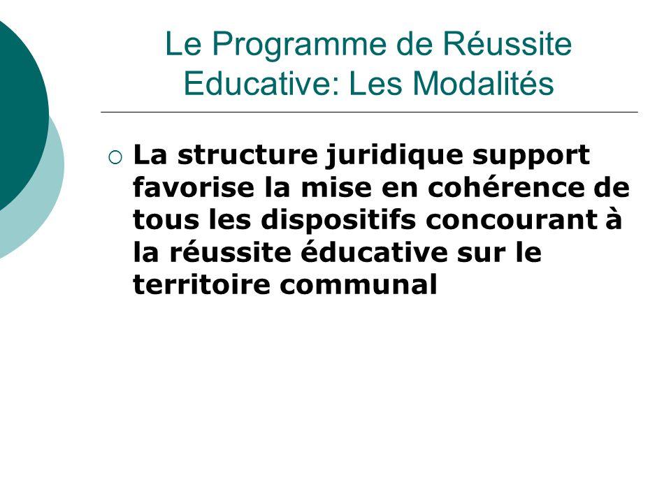  La structure juridique support favorise la mise en cohérence de tous les dispositifs concourant à la réussite éducative sur le territoire communal L
