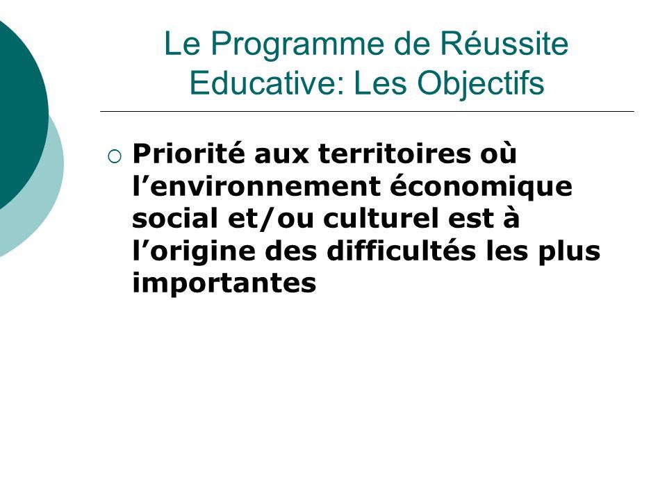  Priorité aux territoires où l'environnement économique social et/ou culturel est à l'origine des difficultés les plus importantes Le Programme de Ré