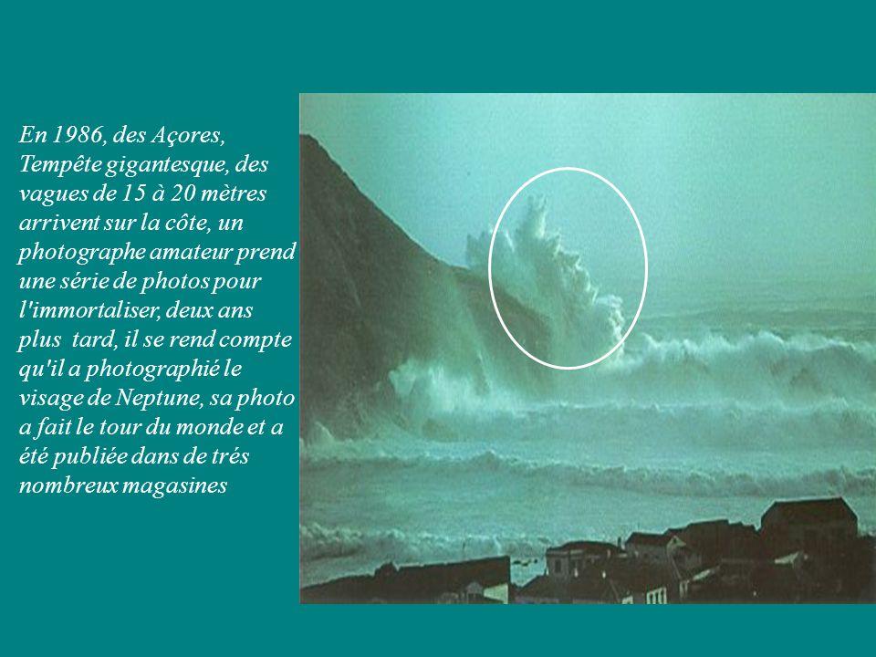 En 1986, des Açores, Tempête gigantesque, des vagues de 15 à 20 mètres arrivent sur la côte, un photographe amateur prend une série de photos pour l'i