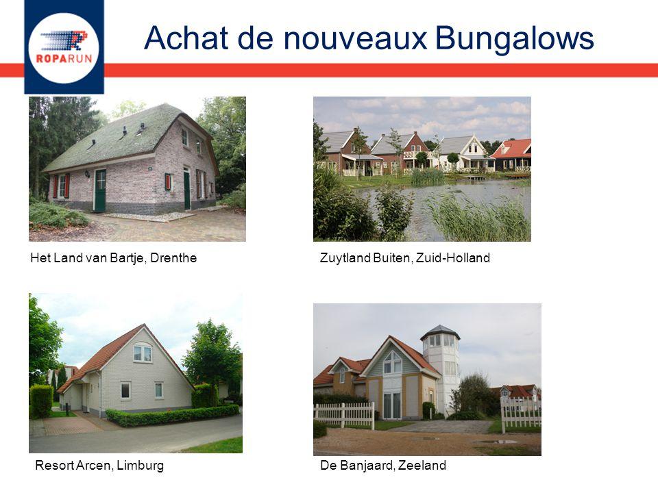 Het Land van Bartje, DrentheZuytland Buiten, Zuid-Holland Resort Arcen, LimburgDe Banjaard, Zeeland Achat de nouveaux Bungalows