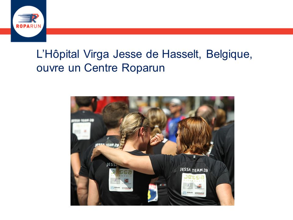 L'Hôpital Virga Jesse de Hasselt, Belgique, ouvre un Centre Roparun