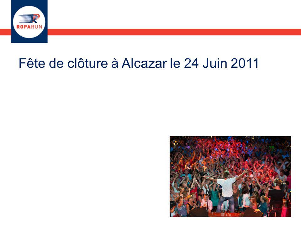 Fête de clôture à Alcazar le 24 Juin 2011