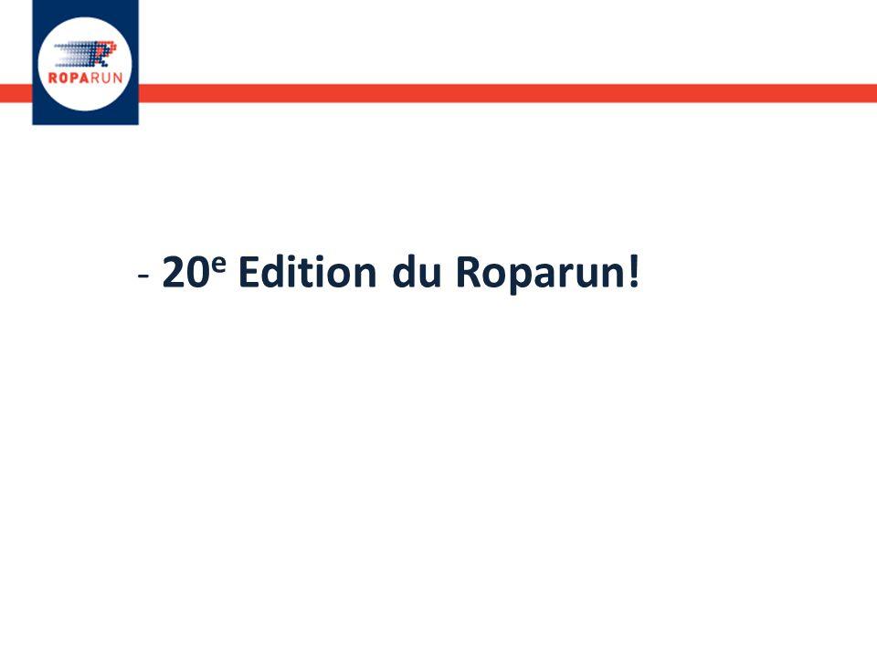 - 20 e Edition du Roparun!