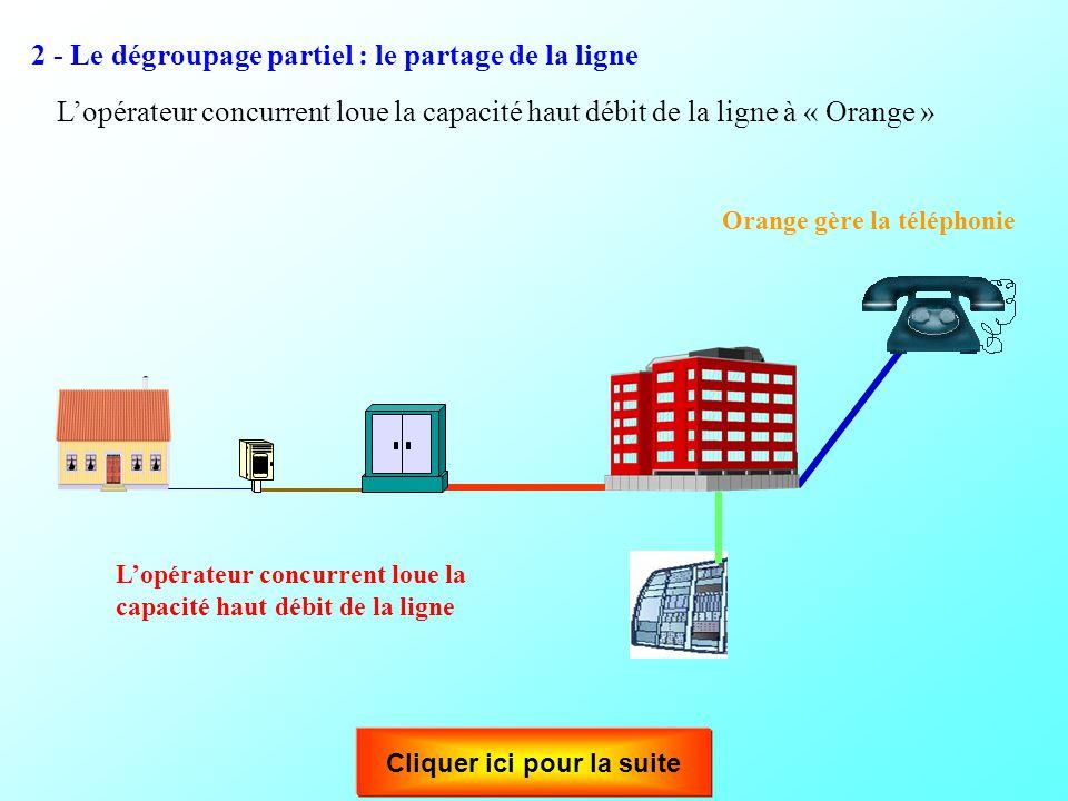 Le dégroupage de la boucle locale est la location, à d'autres opérateurs, de la partie du réseau comprise entre le répartiteur et le client. Un opérat