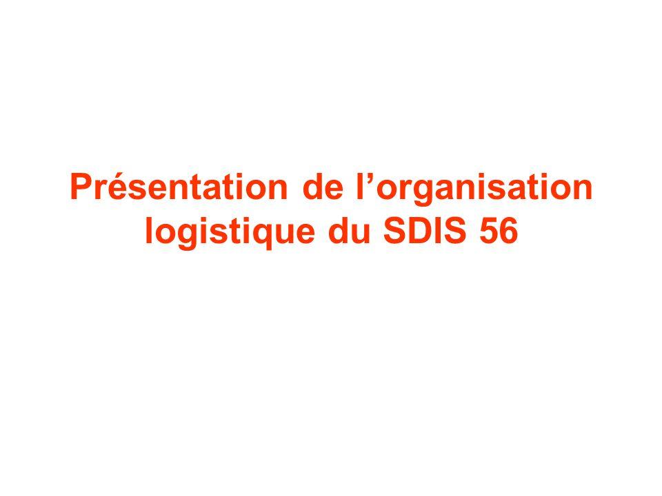 Présentation de l'organisation logistique du SDIS 56