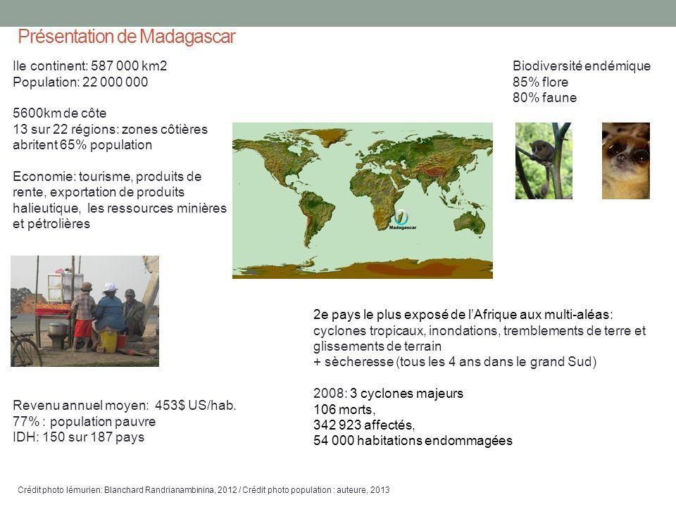 Ile continent: 587 000 km2 Population: 22 000 000 5600km de côte 13 sur 22 régions: zones côtières abritent 65% population Economie: tourisme, produit