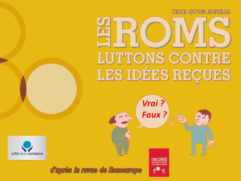 Les Roms C'est des Roumains .Vrai. Faux. FAUX.