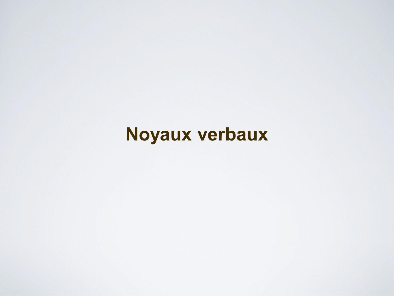 Noyaux verbaux