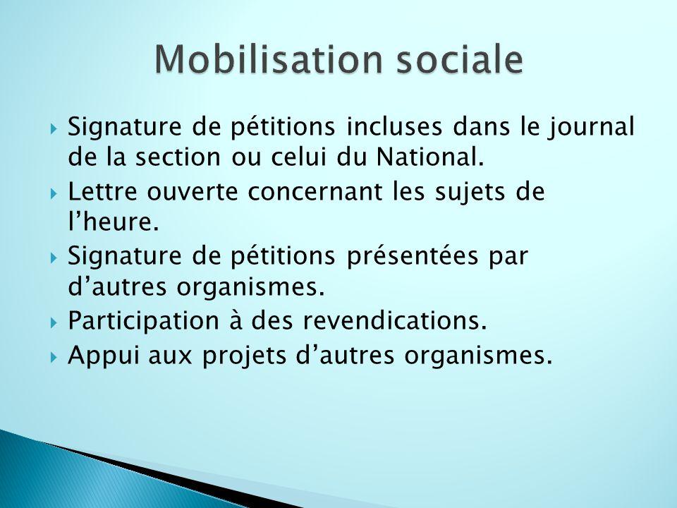 AQDR nationale, ◦ Assemblée générale annuelle, ◦ Assemblée des présidents.